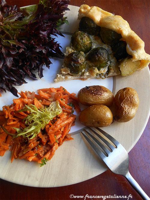 Sujet unique : Recettes Vegan pour tous ! - Page 4 Tarte-aux-choux-de-Bruxelles-vegan