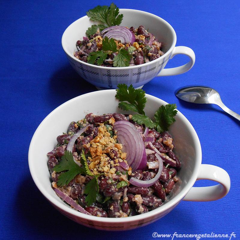 Salade aux haricots rouges (recette végane)