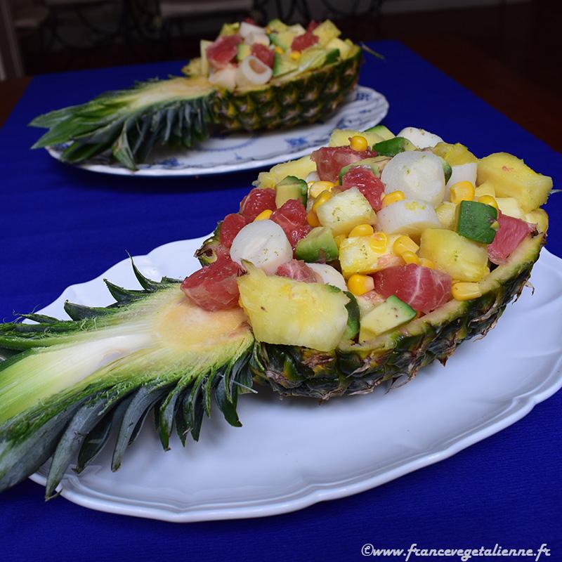 Salade hawaienne (recette végane)