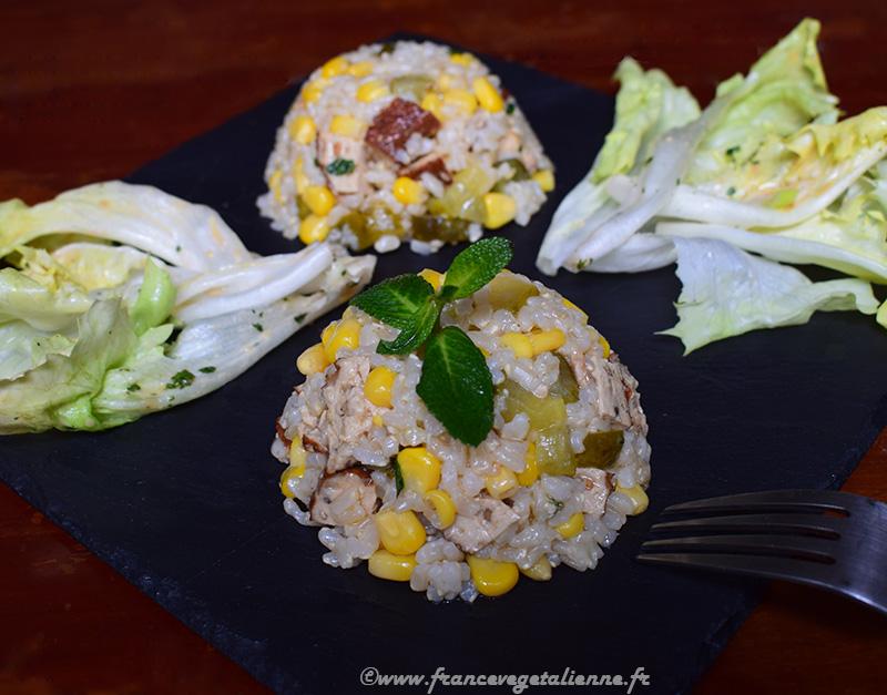 Salade de riz (vegan)