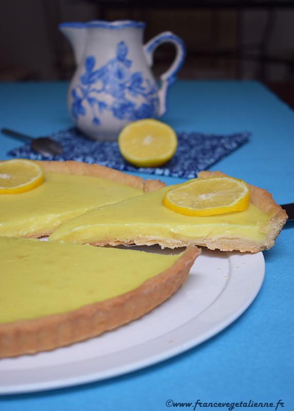 Tarte au citron crémeuse (recette végane)