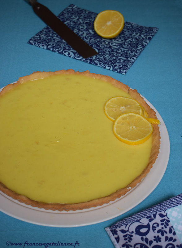 Tarte au citron (sans lait, sans oeuf)