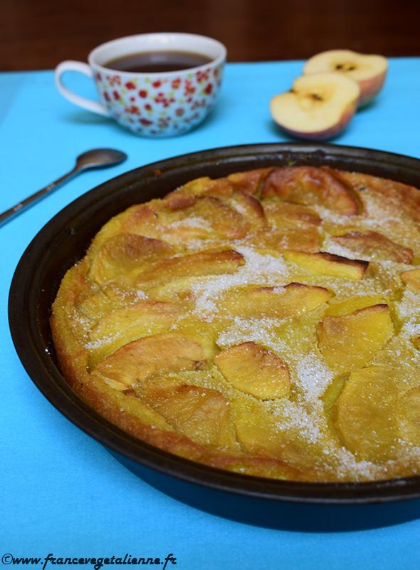 Flamusse aux pommes (recette végane)
