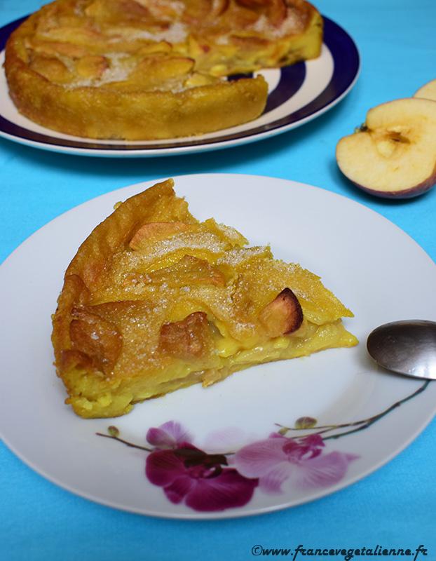 Flamusse (flan aux pommes; vegan)