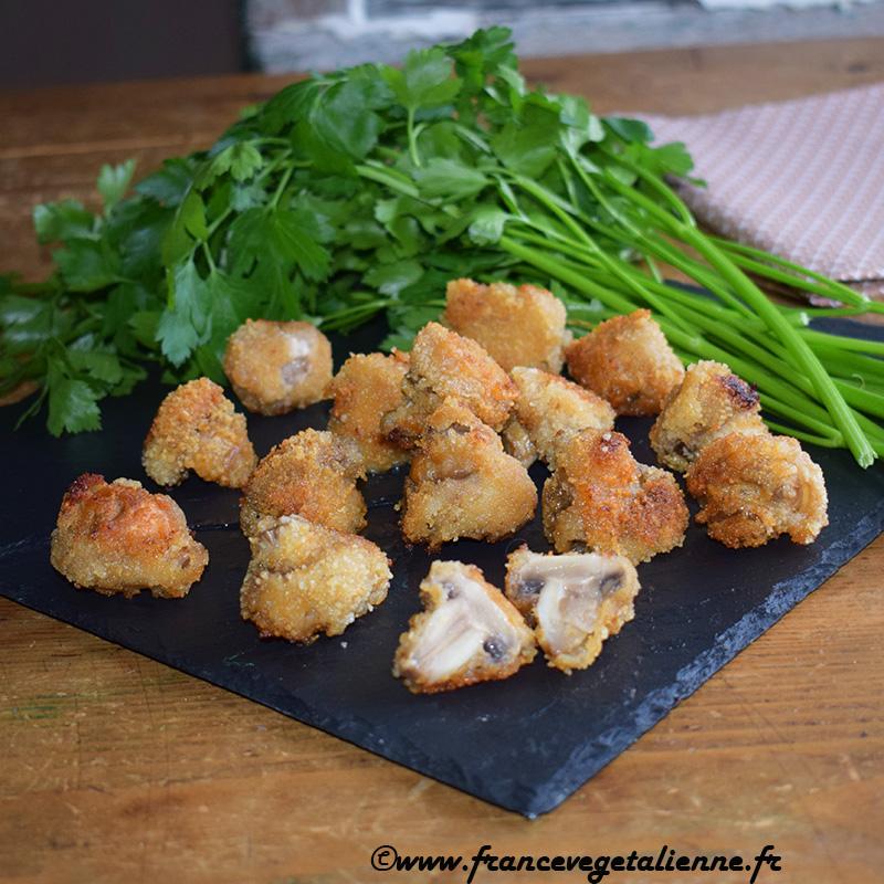 Champignons panés (recette végane)