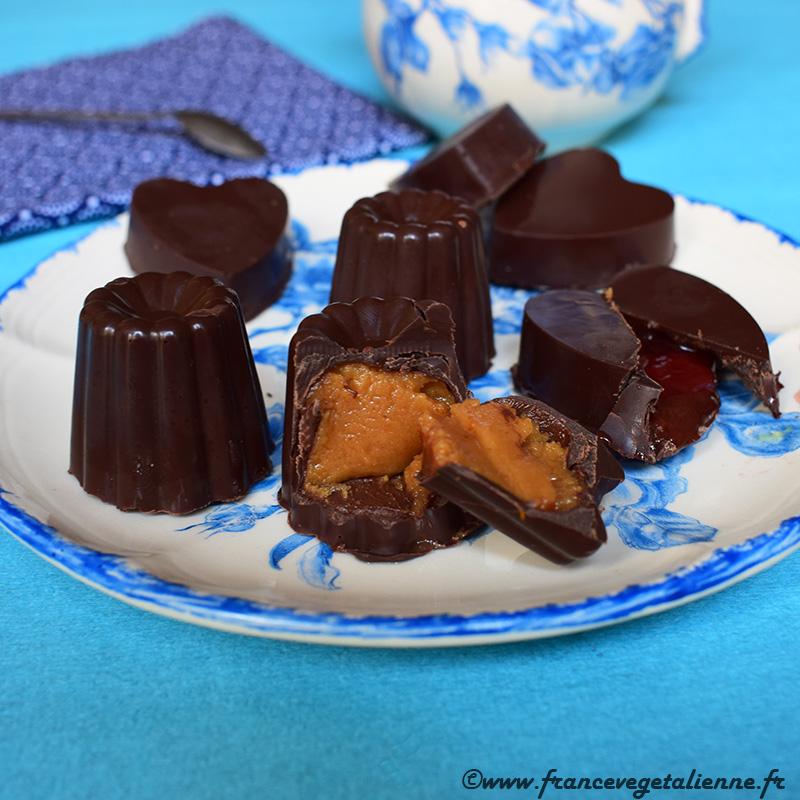 Chocolats fourrés (recette végane)