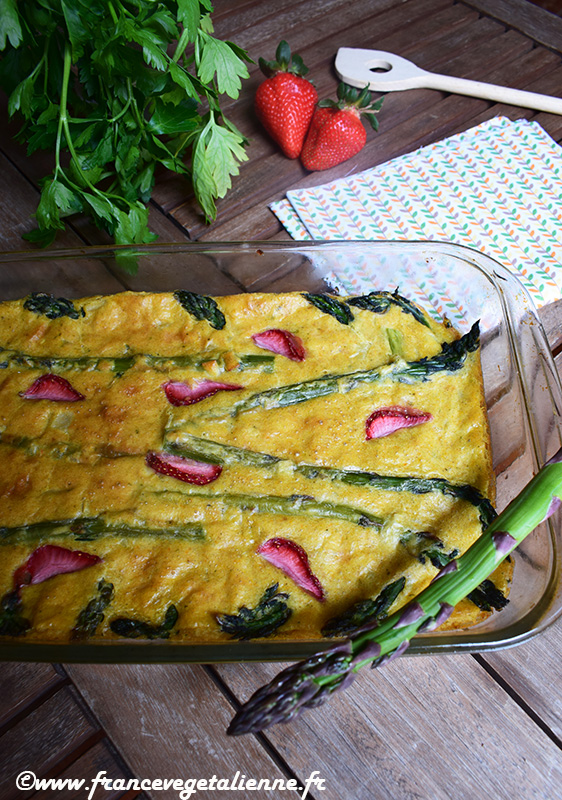 Clafoutis aux asperges (recette végane)