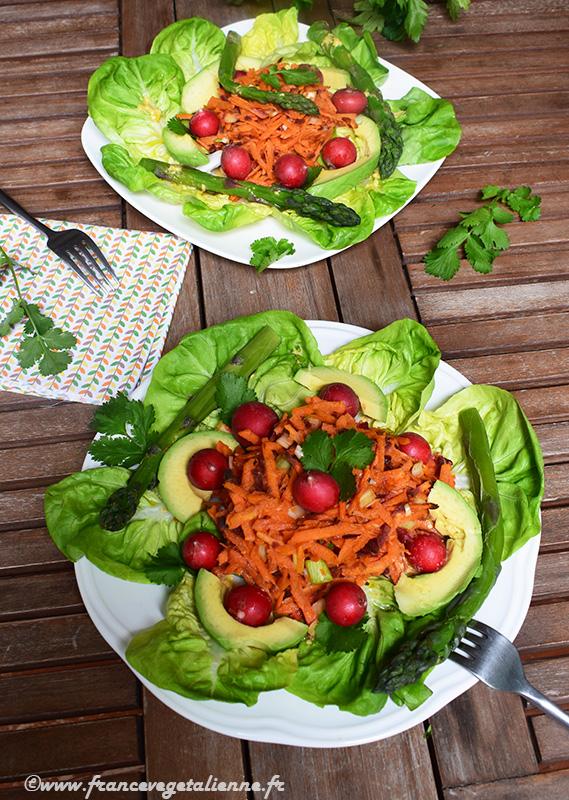 Salade printanière (recette végane)
