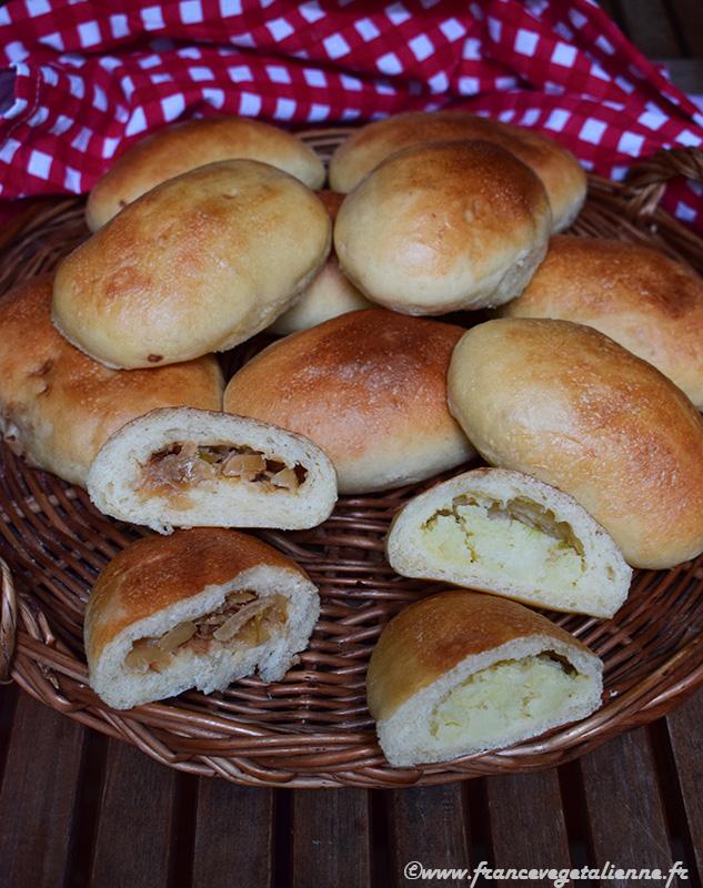 Pirojki au chou et aux pommes de terre (sans oeuf, sans lait)
