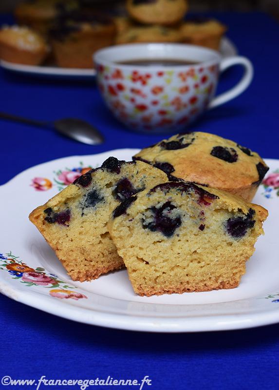 Muffins aux myrtilles (vegan)