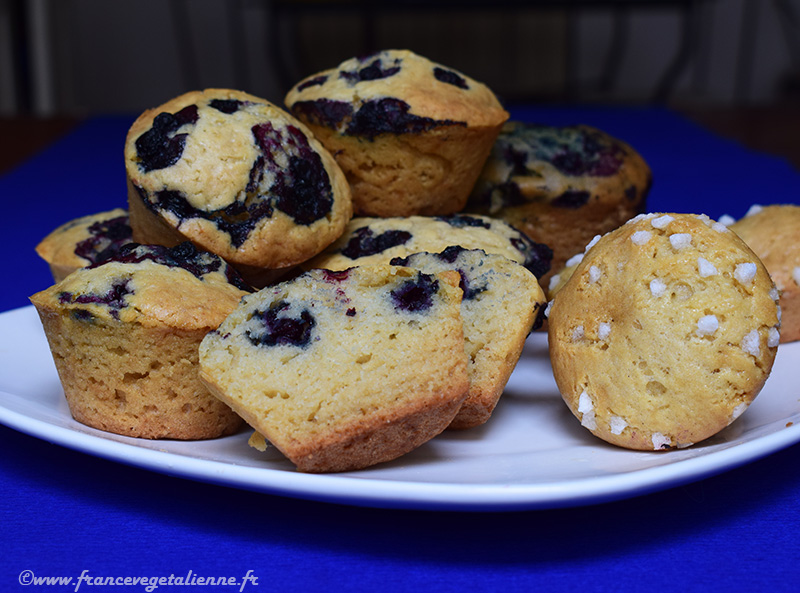 Muffins aux myrtilles (sans oeuf, sans lait)