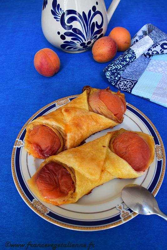 Oranais (croissant aux abricots) sans lait, sans oeuf