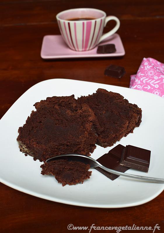 Cake au chocolat sans gluten, sans oeuf, sans lait