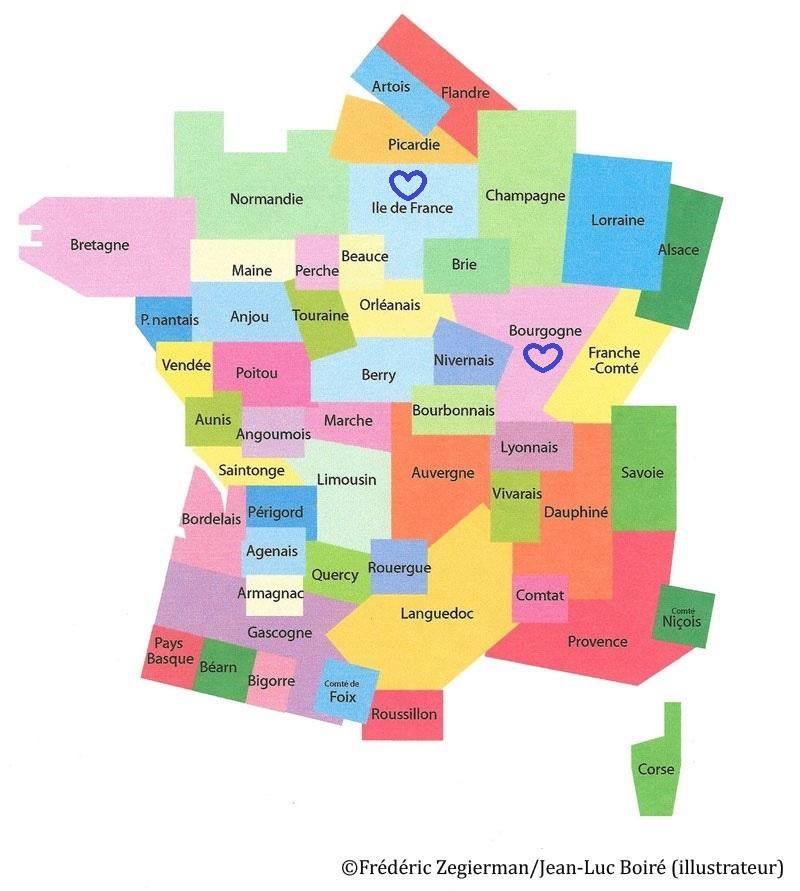 Spécialité de Bourgogne, Île de France et de toute la France