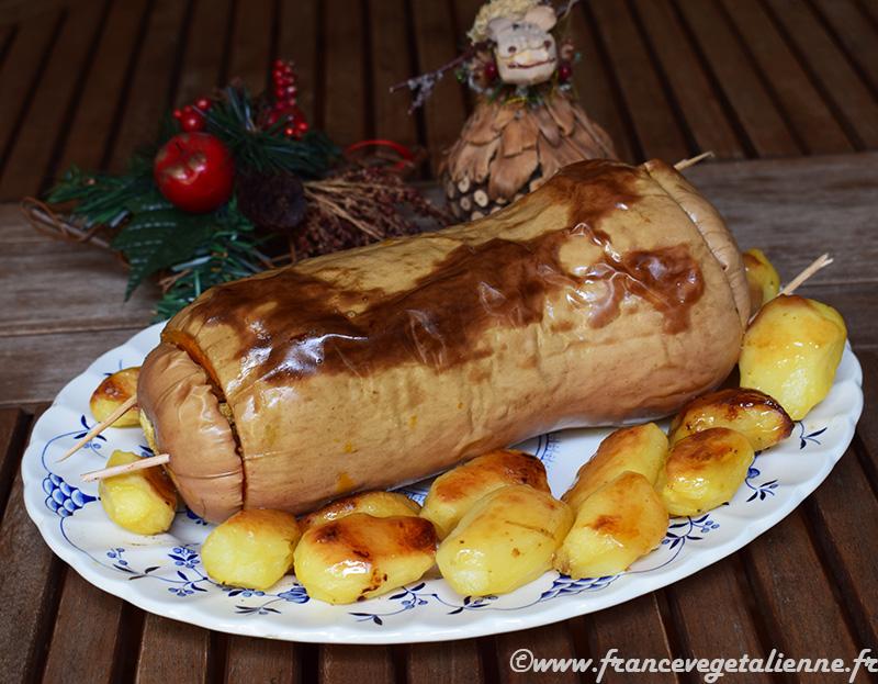 """""""Pavo"""" trufado de Navidad végétal"""