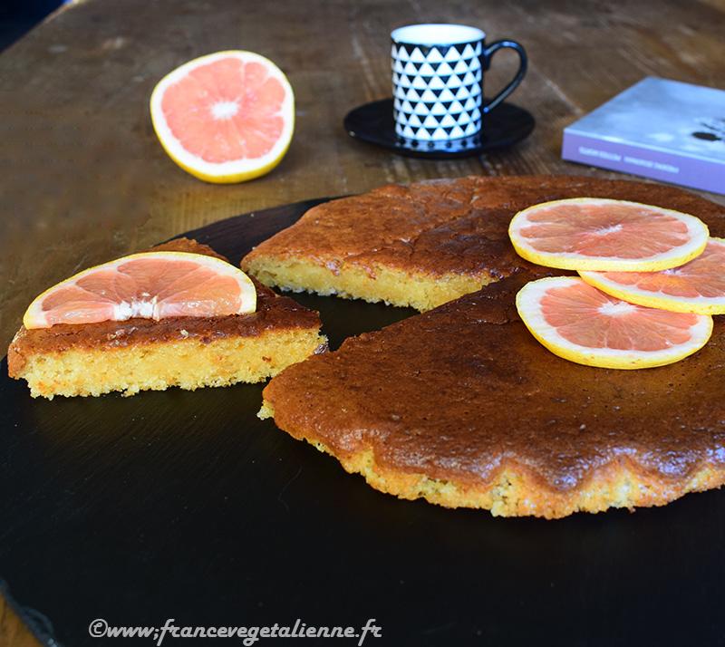 Gâteau au pamplemousse (recette végane)
