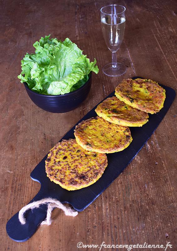 Galettes de soja aux légumes (vegan)
