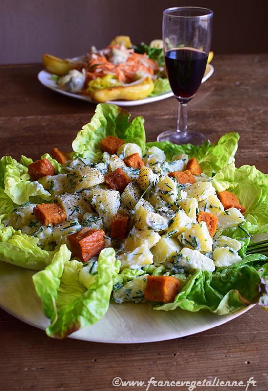 Salade cauchoise (recette végane)