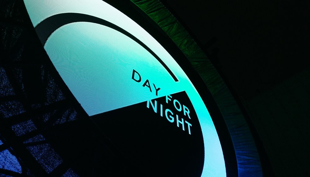 DAY FOR NIGHT Concept / Curation / Creative Direction / Branding / Naming / Wayfinding / Motion / Edit