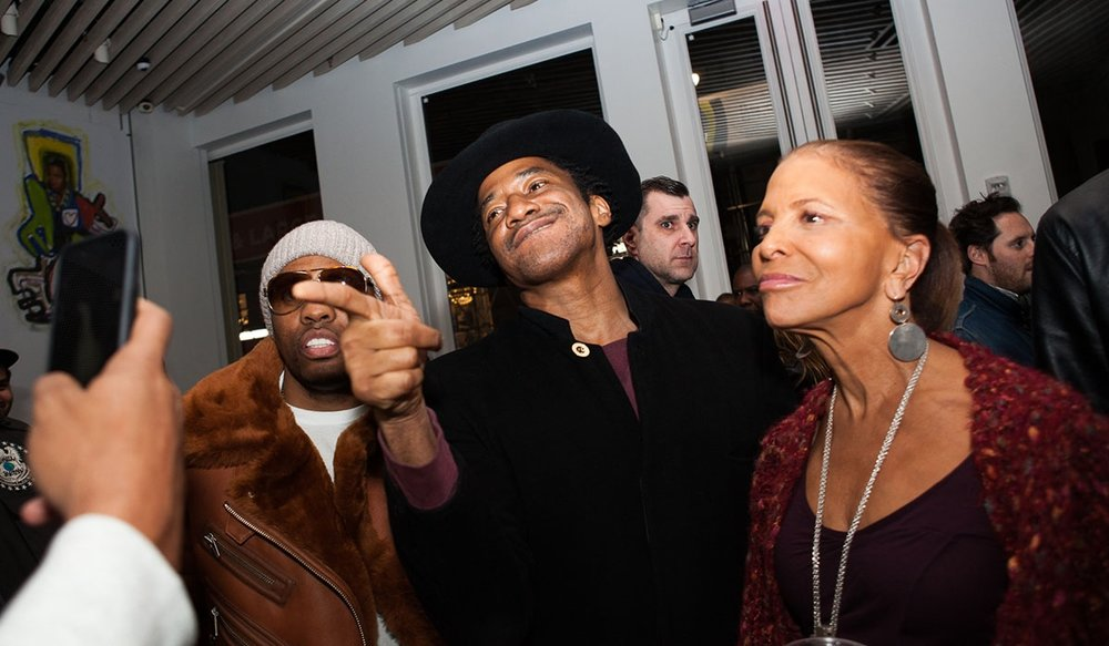 Q-Tip at the album release listening party