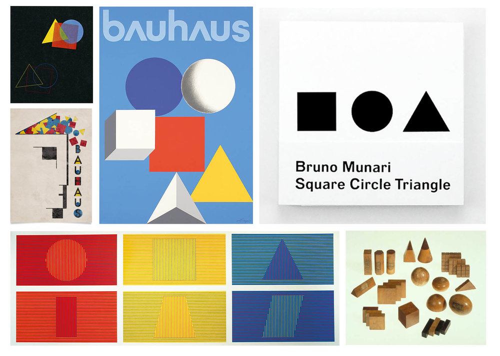 Elemental shapes: Bauhaus, Bruno Munari, Sol Lewitt and Friedrich Fröbel
