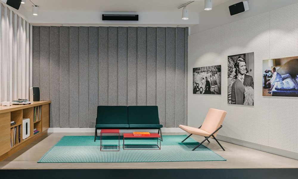 The Berlin store with Loehr furniture and Bowie in Berlin photos