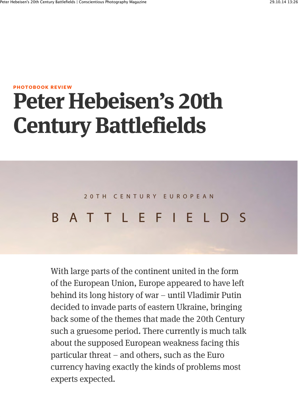 Peter Hebeisen's 20th Century Battlefields | Conscientious Photography Magazine-1.jpg