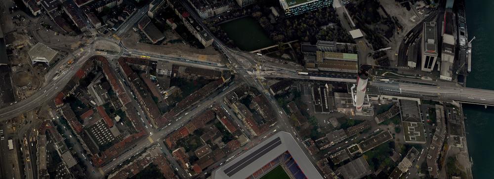 Basel II / Hafen (110cm x 300cm)