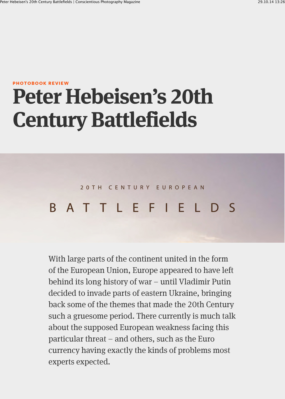 Peter Hebeisen's 20th Century Battlefields Conscientious Photography Magazine-1.jpg