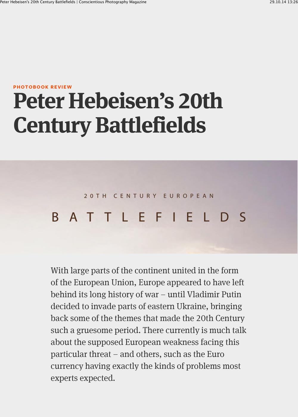 Peter Hebeisen's 20th Century Battlefields Conscientious Photography Magazine-1.jpg