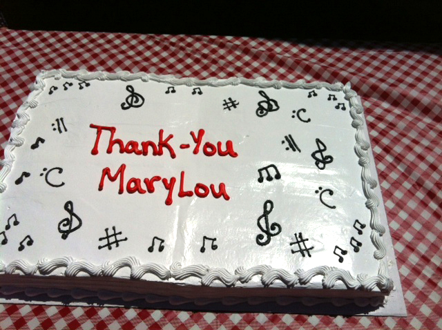 Reception for retiring organist.