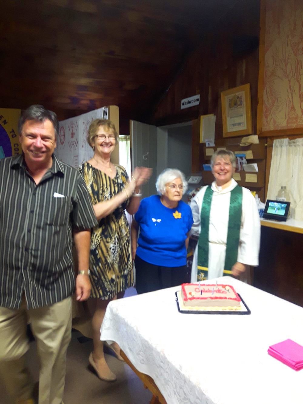 """St Luke's """"Cake Sunday"""" celebrating birthdays and anniversaries for September."""