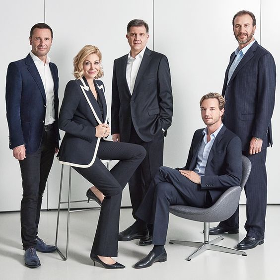 Swarovski Executive Board - classic and crisp corporate photos.