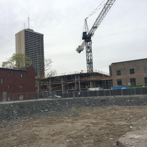 May 2, 2017 - Urban Toronto:    Rockport's Montgomery Square Rental Tower Rises Above   Grade