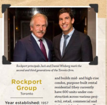 Spring 2018 - Ontario Home Builder's Association Magazine:  Short Stories on OHBA's Longest Standing Members