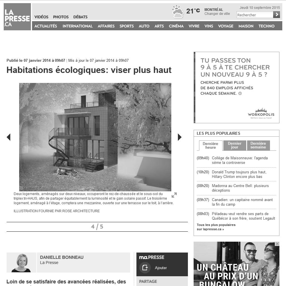 La Presse, 07/01/2014