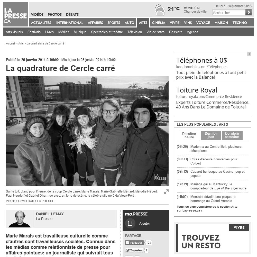 La Presse, 25/01/2014