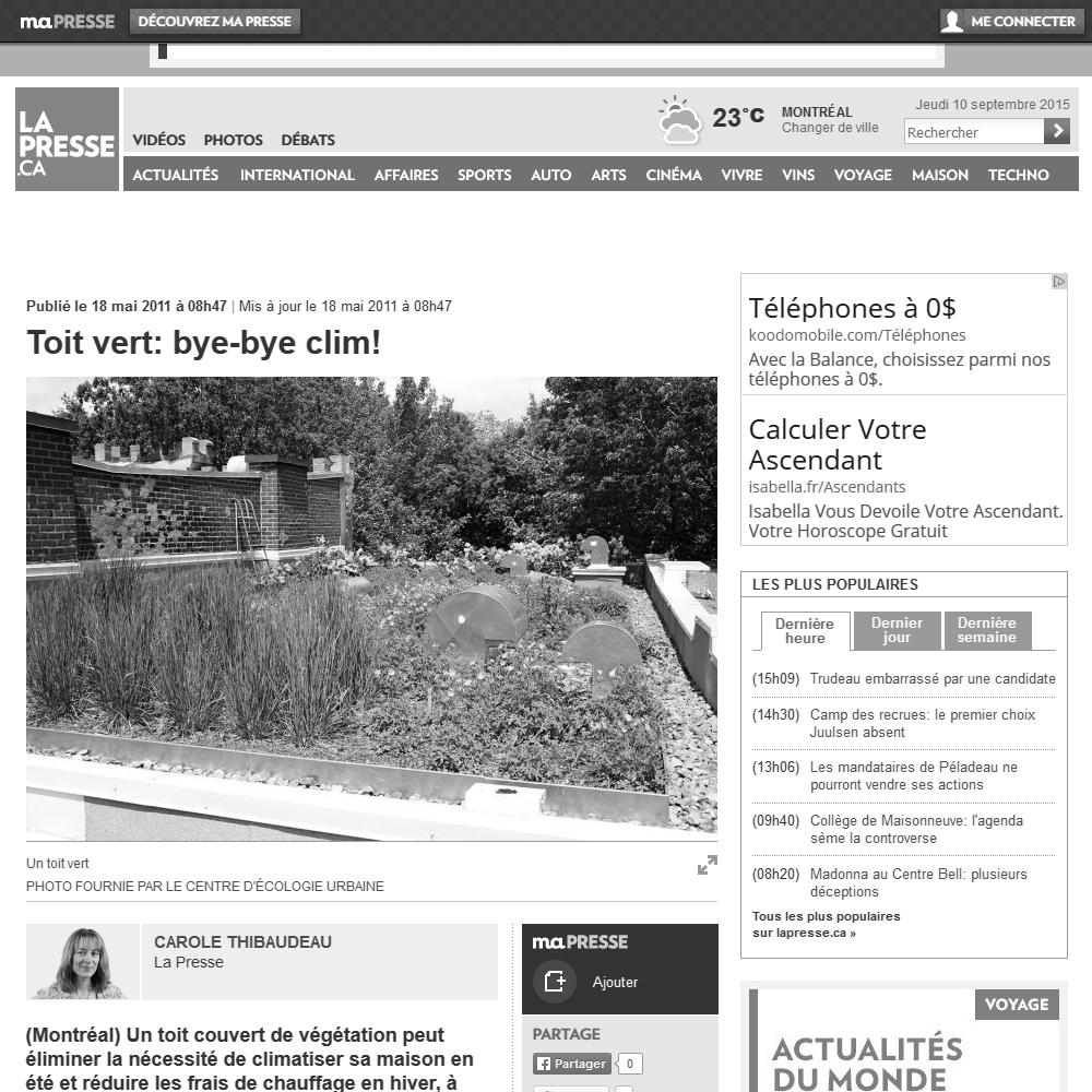 La Presse, 18/05/2011