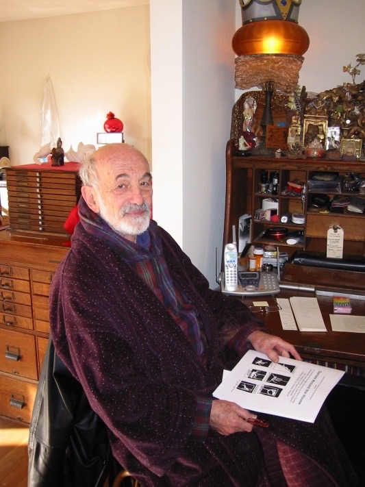Remy Charlip in his home studio. Photo: J. Lazar