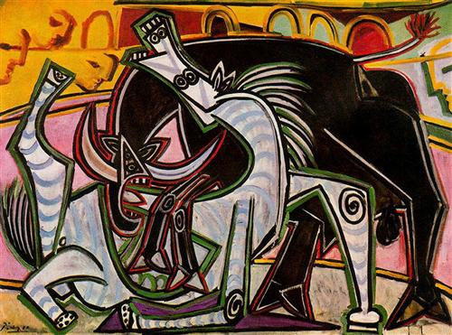 Pablo Picasso,  Le combat avec le taureau , 1934