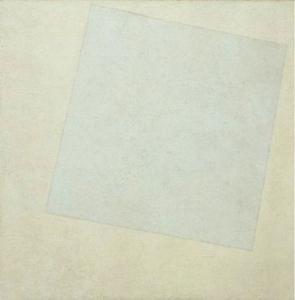 """Malevitch, 1918, """"Carré Blanc sur fond blanc"""""""