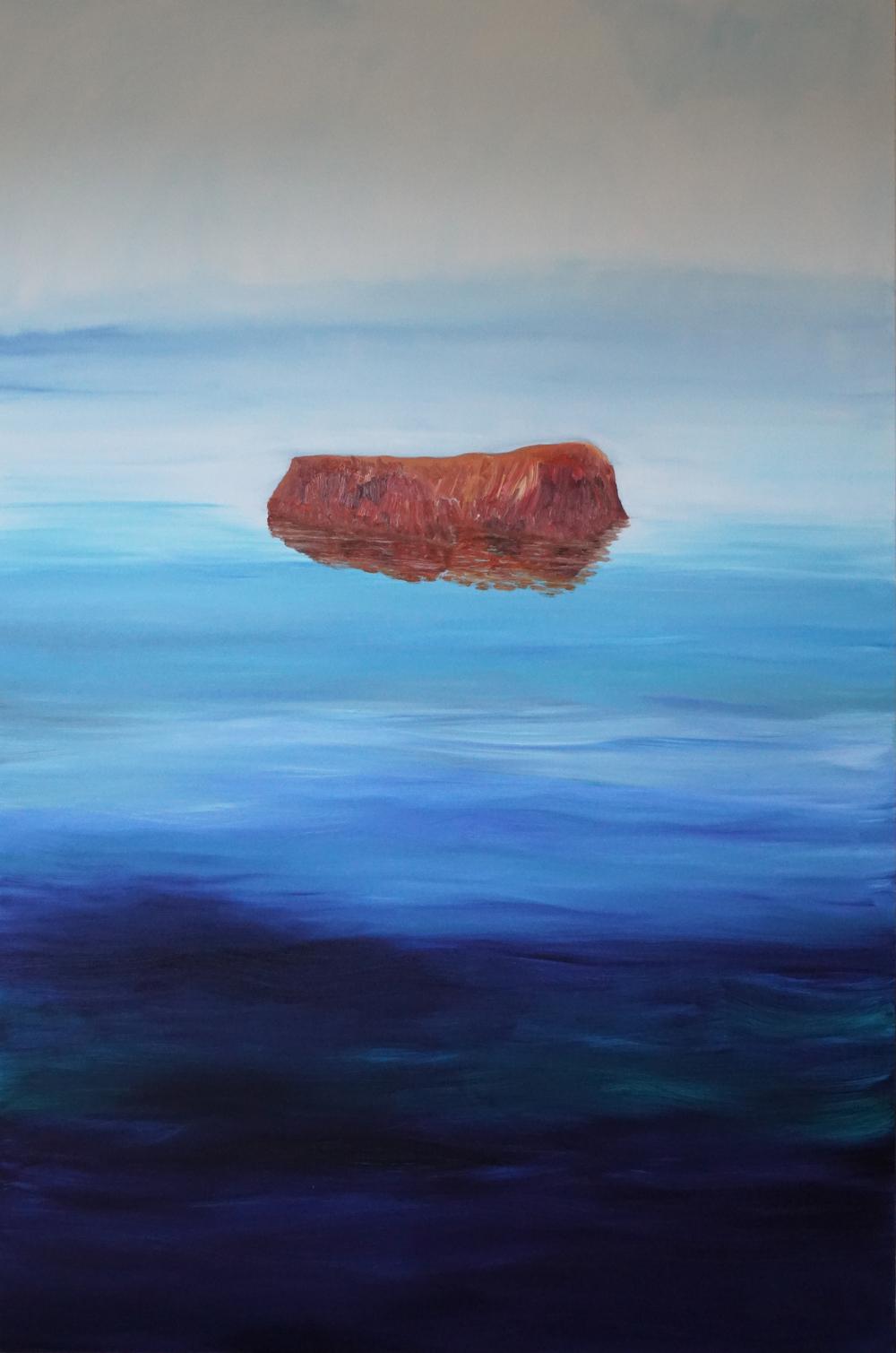 Huile sur toile, 194x130 cm.