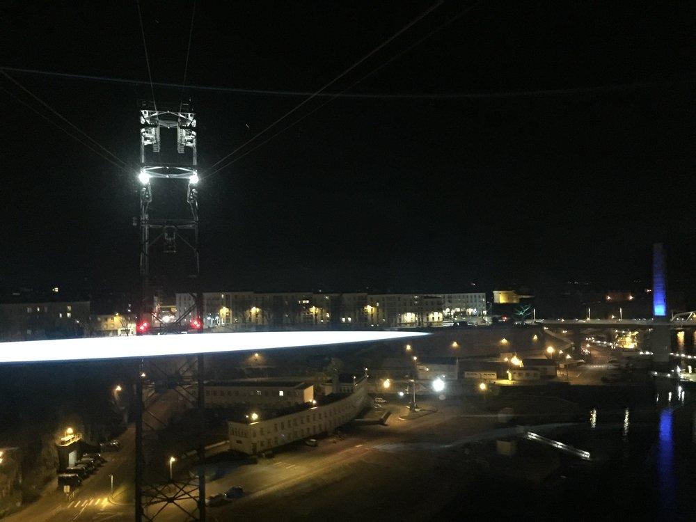 Vue du téléphérique, Brest, 6 janvier 2017.