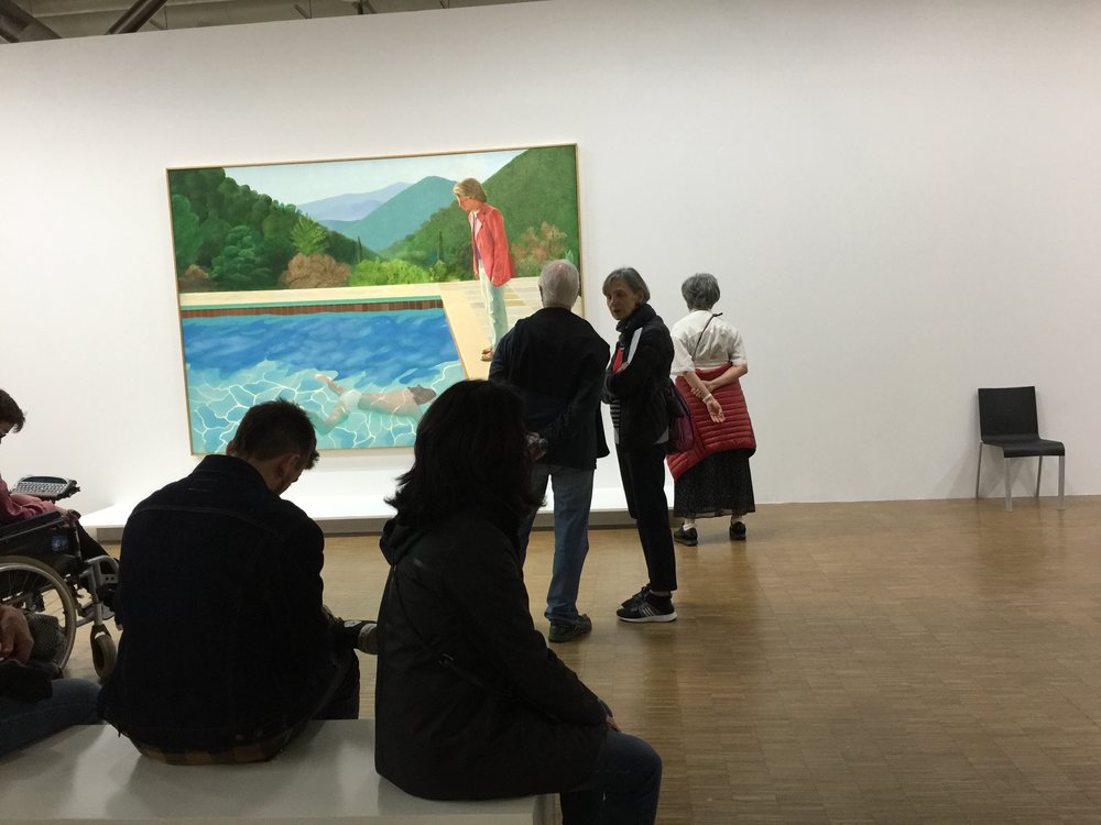 Exposition David Hockney, Centre Pompidou, Paris, Septembre 2017