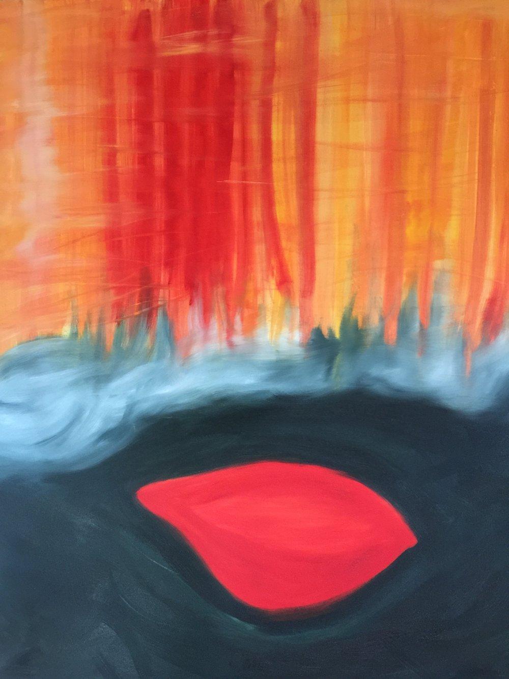 """Origine"", 146x116 cm, Renaud Gaultier 2018."