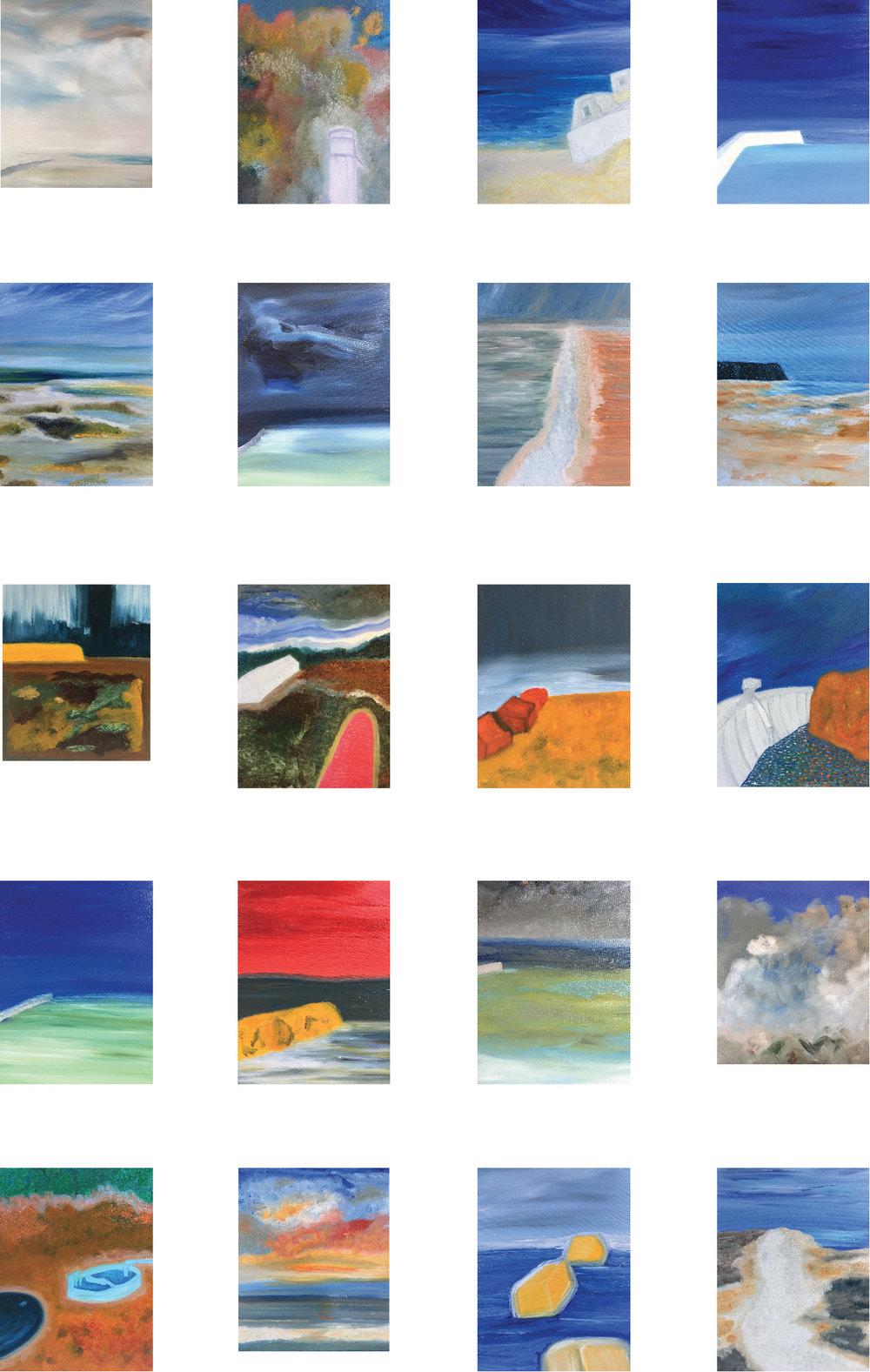 Dams et Dykes, Digues et Levées, Oil on canvas, 10F (55x46cm), 2018.