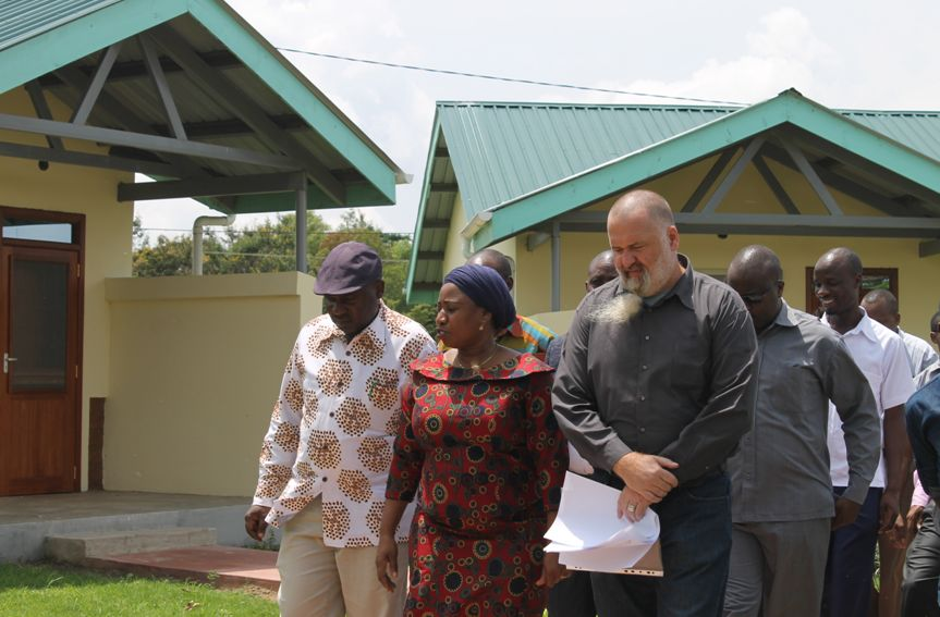 Minister of Heath Mrs Mwalimu together with Regional Commissioner Mr. Mongella, and Cedar Tanzania Country Director, Mr. Mark O'Sullivan