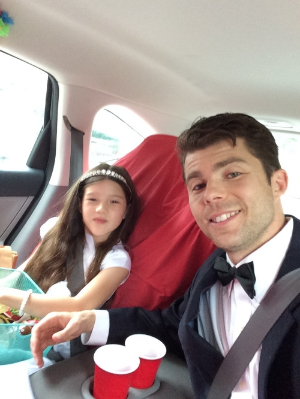 My little girl taking me to the ball!  Happy Father's Day.