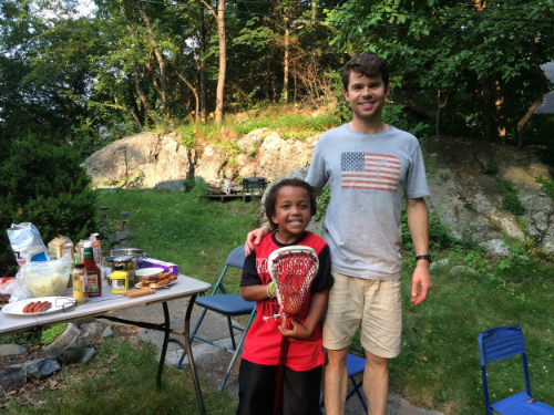 A little summer bbq with Hunter.