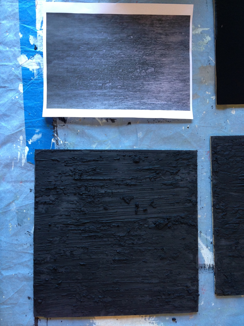Working on some samples for the Richard Serra homage project.
